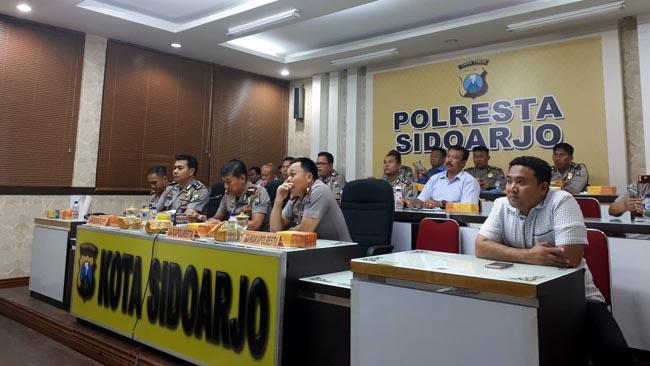 Jelang HSN 2017, Polresta Sidoarjo dan Ansor Rakor Keamanan