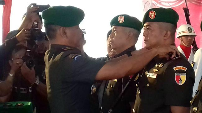 Sertijab Dandim 0818 Kab Malang-Batu, Danrem 083 Berpesan Tingkatkan Sinergitas dengan Polri