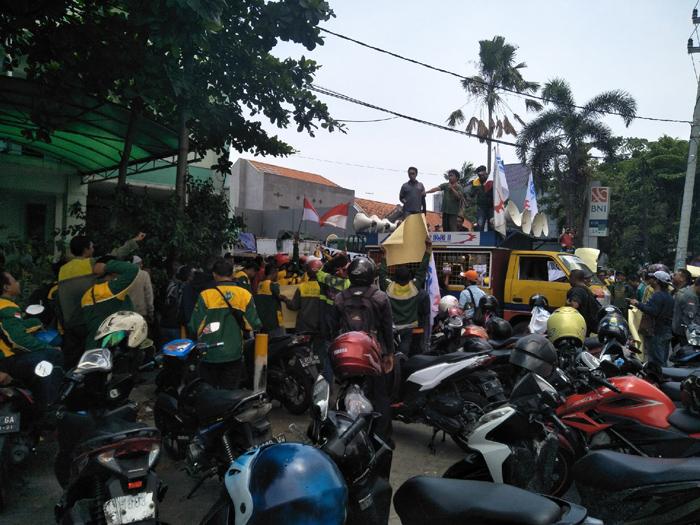 Ratusan karyawan Ex PT Gama Unjuk Rasa