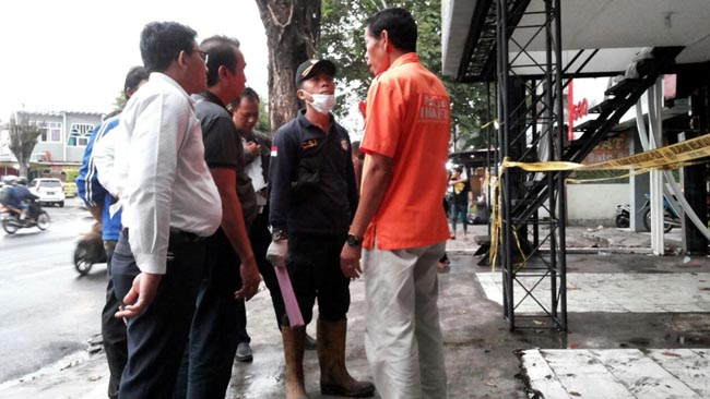 Tim Labfor Selidiki Penyebab Kebakaran 4 Bangunan di Jl Trinojoyo
