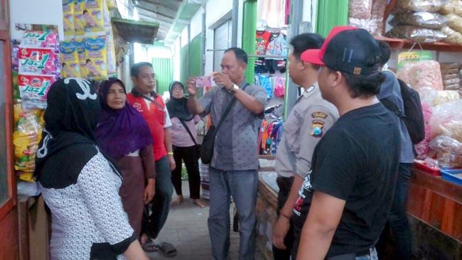 Upal Beredar di Pasar Semboro, Polisi Lakukan Sosialisasi