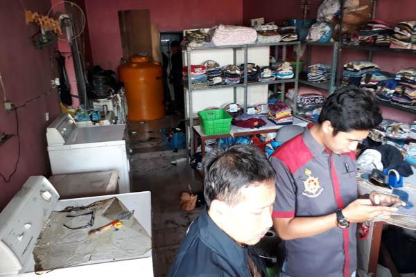 LPG Ngowos, Kios Laundry Terbakar, Pemilik dan 2 Karyawan Mlonyoh