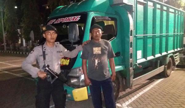 Patroli Sabhara Amankan 1 Unit Truk Diduga Mengangkut Kerang Dilindung