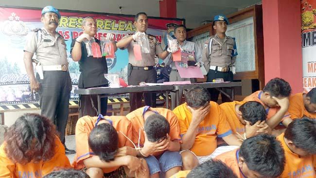 2 Minggu, Polres Bangkalan Ringkus 17 Budak Narkoba