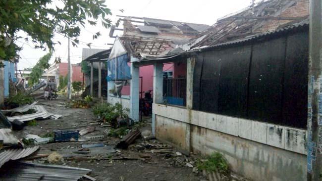 372 Rumah Warga di 3 Desa Rusak Diterjang Puting Beliung