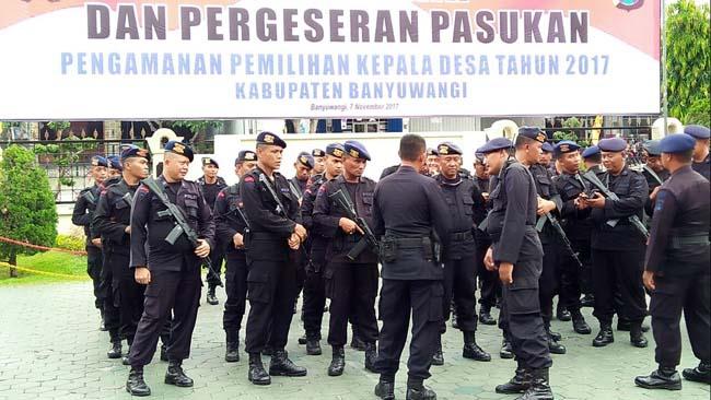 Amankan Pilkades Serentak, Polres Banyuwangi Kerahkan 3 Kompi Brimob