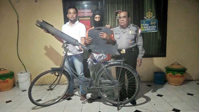 Arek Bligo Jarah Mesin di KPTR Candi