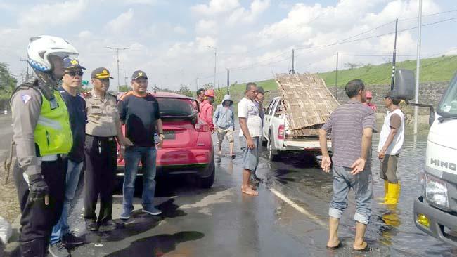 Banjir Mengering, Raya Porong Kembali Normal