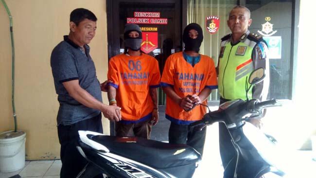 Duo Arek Raos Nyuri Motor, Dibekuk Bapak Korban, Beruntung Gak Dihajar Massa