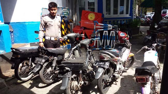 Polres Malang Kota Buru Motor Berknalpot Brong, Satlantas Amankan 21 Unit