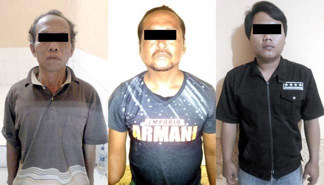 Seminggu Berburu Penjahat,  Polsek Puger Ciduk 3 Tersangka