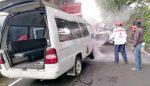 Berangkat Jemput Pasien di RS Panti Nirmala, Ambulans Terbakar