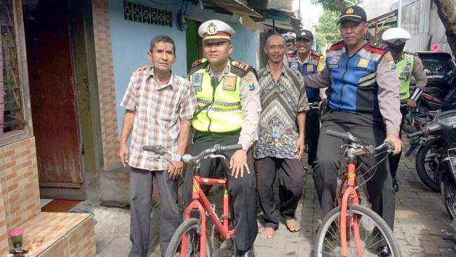 Patroli Sepeda Onthel, Polsek Sawahan Sita Miras Cukrik
