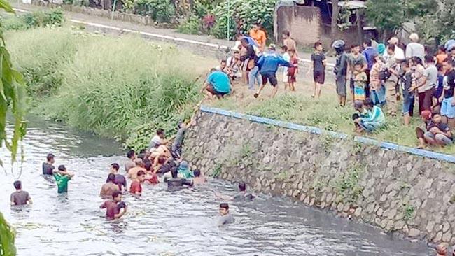 Bocah SMP Meregang Nyawa Saat Mandi di Kali Bader