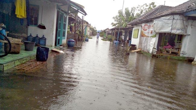 Puluhan Hektar Sawah di Semambung Terendam Banjir