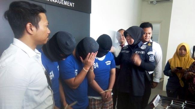 Tim Siber Resmob Polrestabes Surabaya Gulung 3 Driver Grab Fiktif