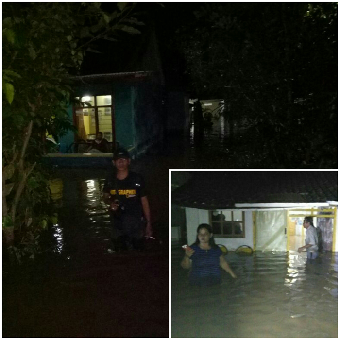 Banjir bandang yang menggenangi rumah warga. (pix)