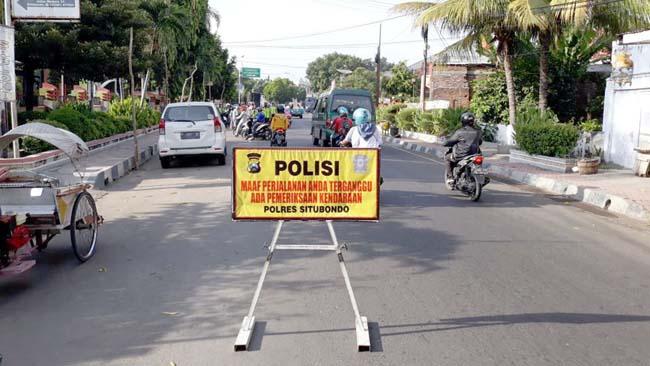 Razia di Jalan Madura, Satlantas Polres Situbondo Tilang 15 Pelanggar