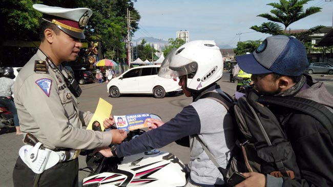 Satlantas Polres Malang Tilang 1.357 Pelanggar