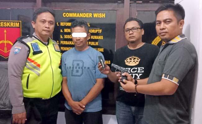 Acungkan Air Soft Gun, Anggota Perbakin Jombang Diciduk Polisi