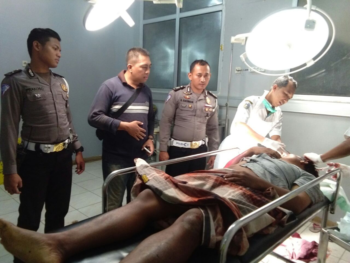 MENINGGAL: Farid dilarikan ke RSUD Abdoer Rahem setelah dihantam oleh pikap tanpa identitas.(im)