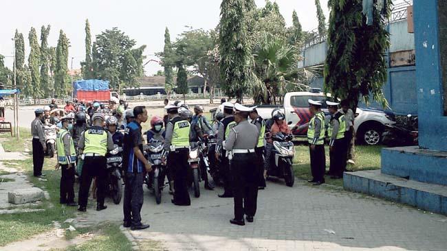 Operasi Patuh Semeru, Satlantas Polres Lamongan Tilang 2.383 Pelanggar