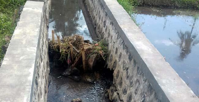 Lokasi proyek irigasi tanpa pondasi