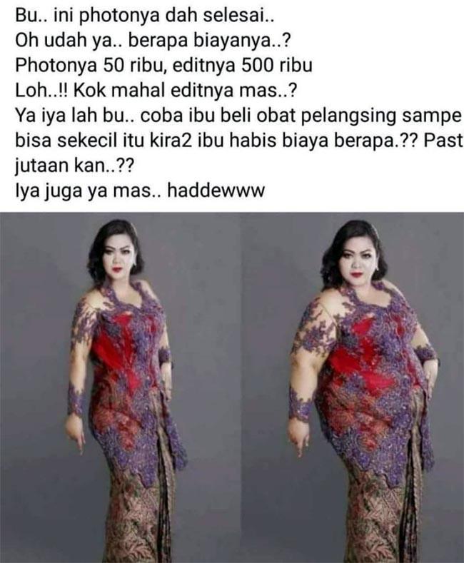 Foto Pia yang diedit dan disebar oleh SR di media sosial. (ist)
