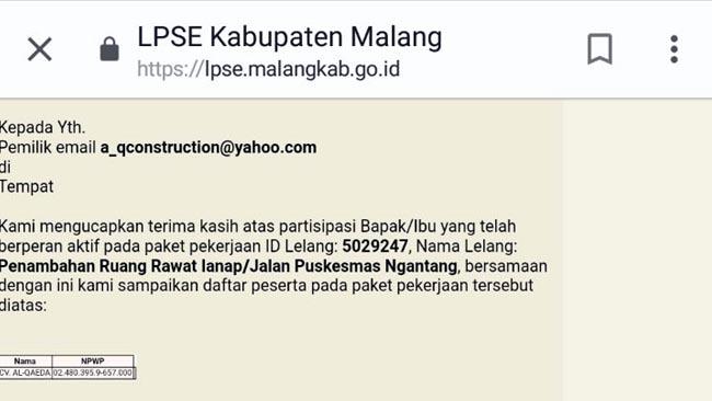 Kebijakan PPK Dinkes Malang Diprotes, Rekanan Tanya Kecenderungan ke Salah Satu Pihak
