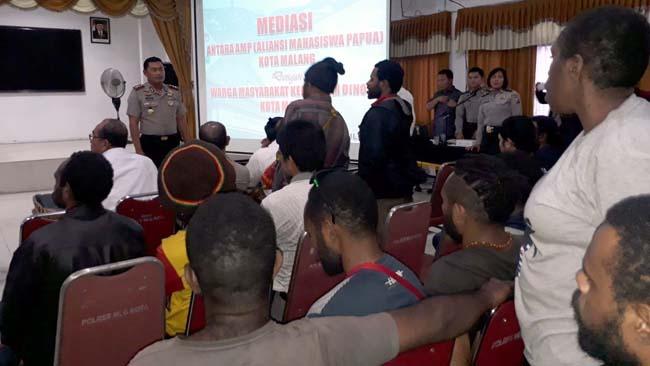 Pasca Bentrok di Dinoyo, Mahasiswa Papua dan Warga Dinoyo Dimediasi