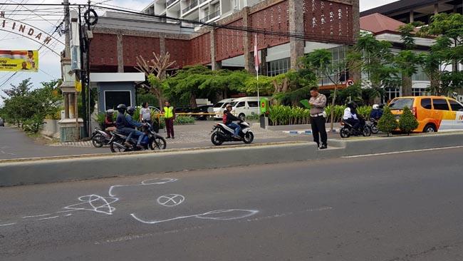Tali Gas Nyangkut, Pelajar SMP Tewas Nabrak Bus Pariwisata