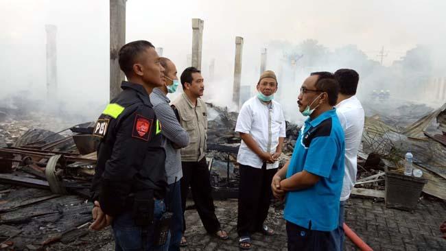 Polres Trenggalek Turunkan Labfor Selidiki Kebakaran Pasar Pon