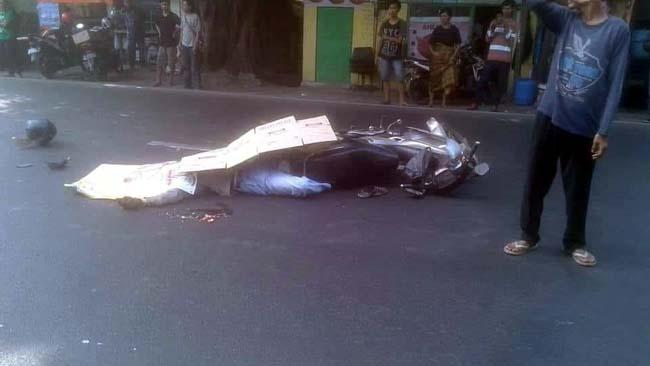 Warga Jombang Tewas Tertabrak dari Belakang di Medaeng