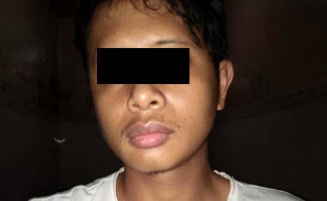 BURON : Satu tersangka pengeroyok ditangkap Polsek Dampit. (Foto Humas Polres Malang)