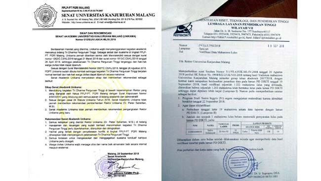 Surat Rekomendasi Senat & Surat Verifikasi Data Mahasiswa Lulus dari L2DIKTI. (ist)