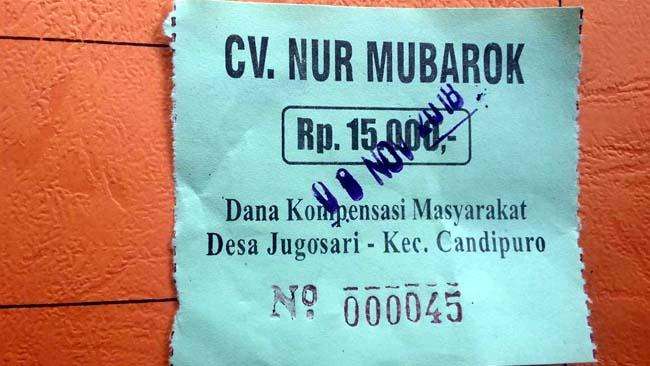 Pungut Kompensasi, Kepala Desa Jugosari Diprotes Pemilik CV Nur Mubarok