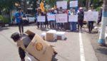 Dituding Lelet Tagani Kasus Korupsi, Aktifis PMII Lamongan Kembali Demo Kejari