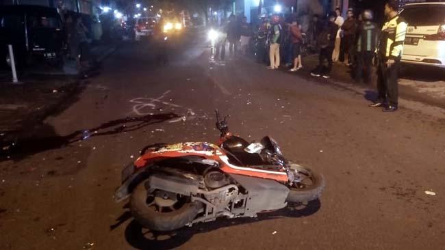Kondisi motor korban rusak parah. (ist)