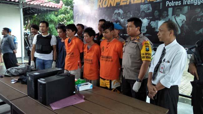 Komplotan Bobol ATM Lintas Kota Diberondong Pelor di Trenggalek