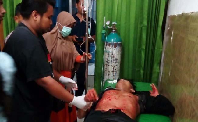 Korban saat di Rumah Sakit Bhayangkara Bondowoso