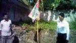 Dua Bendera Partai Terbakar, Diduga Dibakar Orang