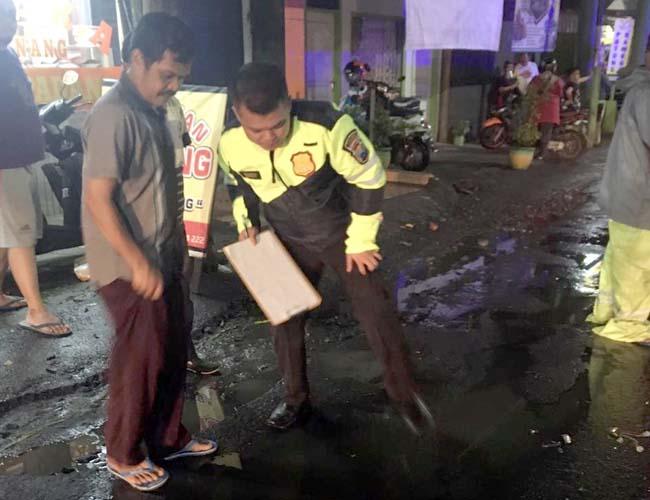 Jemput Anak Pulang Les, Bapak Tewas Terseret Truk Tangki