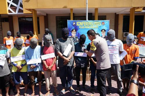 Polres Probolinggo Gelar Hasil Operasi Pekat