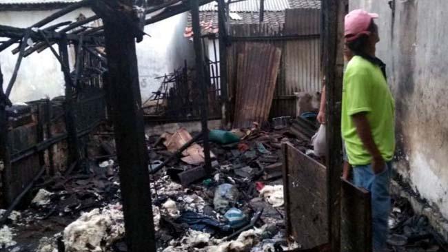 Kondisi rumah yang hangus terbakar (istimewa)