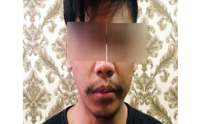 Tersangka Achmad Irfaudin. (ist)
