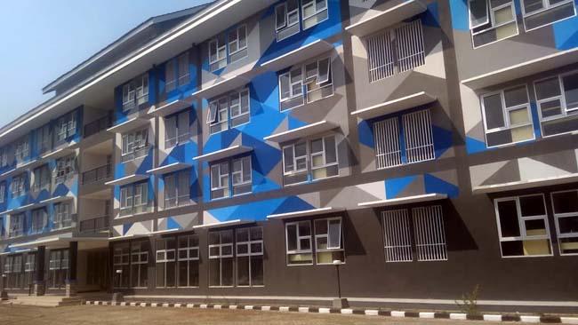 KONDISI : Kondisi Bangunan Rusunawa ASN di Blok Office Kepanjen. (Sur)