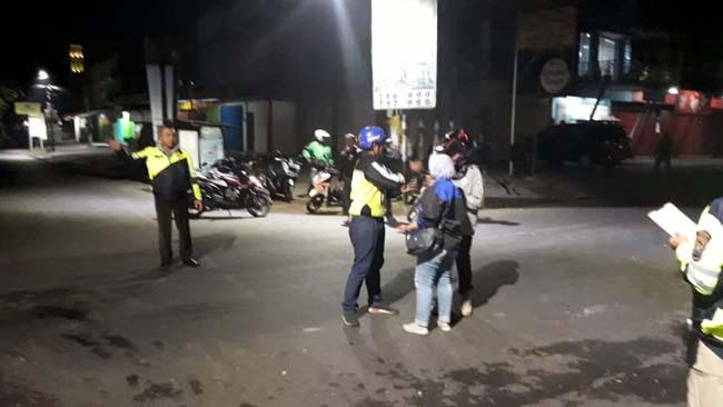 Petugas Laka Lantas Polres Malang Kota melakukan olah TKP. (ist)