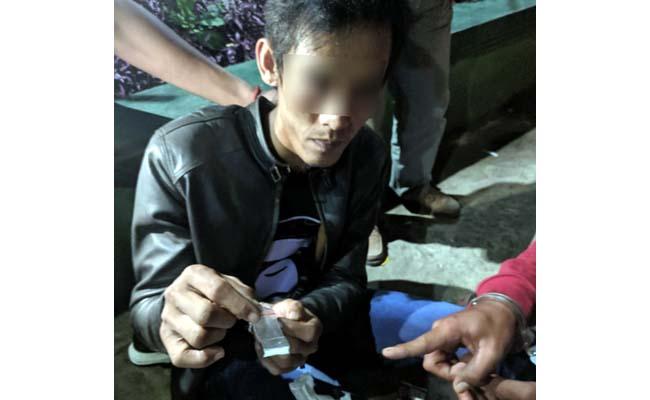 Tersangka Arifin dibekuk petugas Reskrim Polsekta Lowokwaru . (ist)