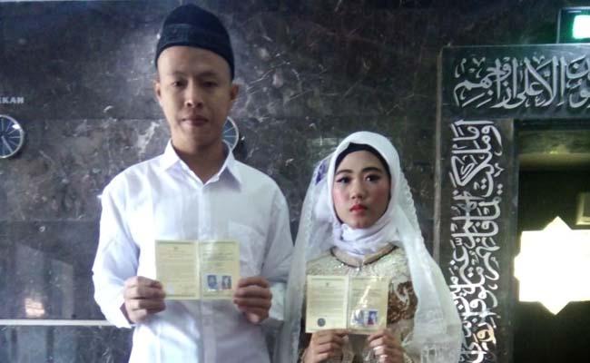 Tahanan Narkoba Nikahi Gadis Idaman di Polresta Sidoarjo