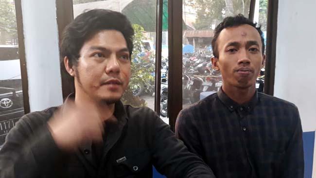 Wijaya Salim, bersama temannya di Laka Lantas. (ist)